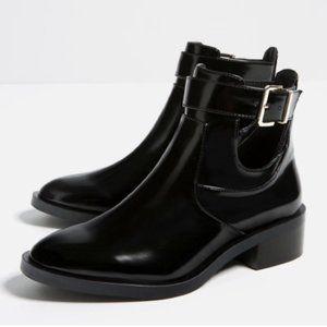 Zara Flat Cutout Ankle Boots